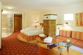Schlafzimmer in der Feng Shui Suite - Wellnesshotel Warther Hof