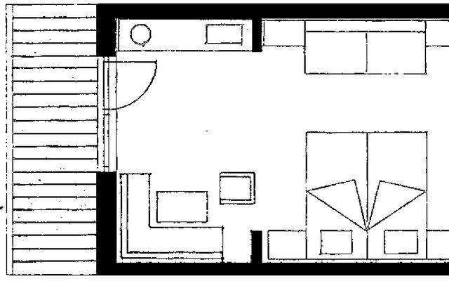 """Doppelzimmer """"FELDERN"""" ohne Balkon 4/4"""