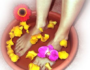 Pedicure with foot bath