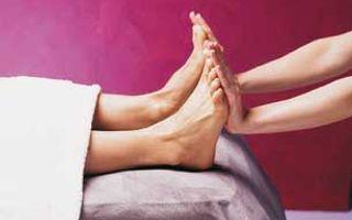 Fußmassage der Reflexzonen