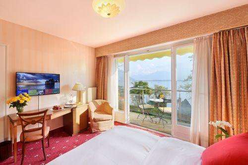 Chambre double avec vue sur lac