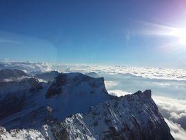 Blick von 3.000m auf der Zugspitze in Tirol