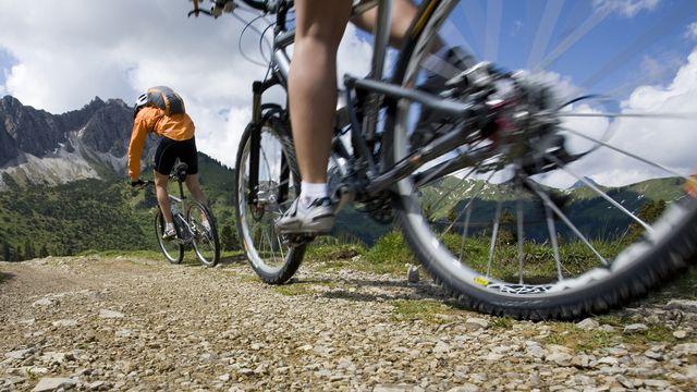 * Mountainbiken im Montafon