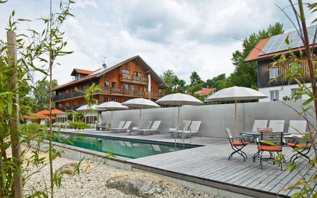 Biohotel Pausnhof: Badegarten mit Naturschwimmbad