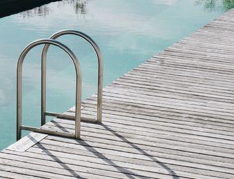 Biohotel Pausnhof Pool Einstieg