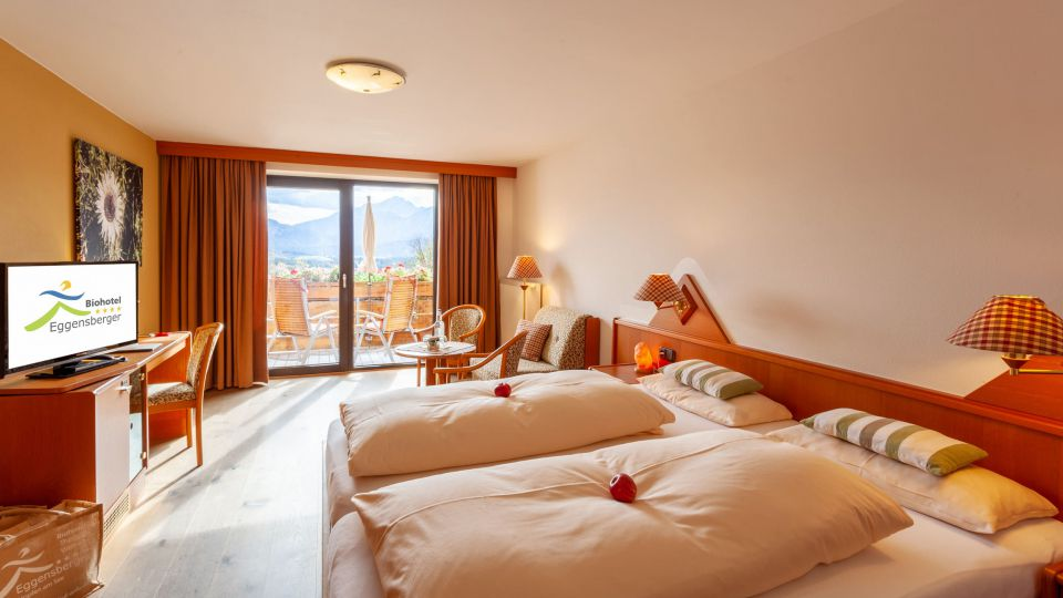 biohotels eggensberger doppelzimmer comfort suedpanorama