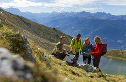 Tauber's Bio-Vitalhotel: Palatschinken am Berg - Tauber's Bio-Wander-Vitalhotel, St. Sigmund, Trentino-Südtirol, Italien