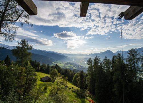Biohotel Grafenast: Ausblick ins Inntal - Biohotel Grafenast, Pill / Schwaz, Tirol, Österreich