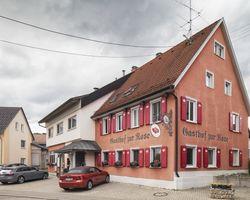 Biohotel Rose: Restaurant von Außen - Bio-Hotel und Restaurant Rose, Hayingen-Ehestetten, Baden-Württemberg, Deutschland
