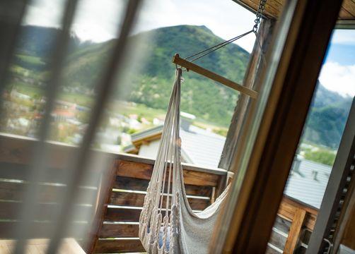 ECO-Camera doppia Panorama lato sud con amaca e terrazza soleggiata (4/4) - Biohotel Panorama