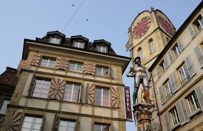 L'Aubier, Café-Hôtel - Neuchâtel, Neuenburg, Schweiz