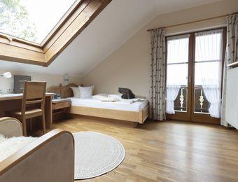 Comfort single room Elderberry with balcony / I - moor&mehr Bio-Kurhotel