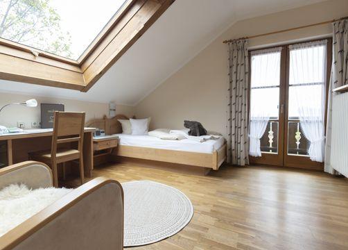 Comfort single room Elderberry with balcony / I (1/1) - moor&mehr Bio-Kurhotel