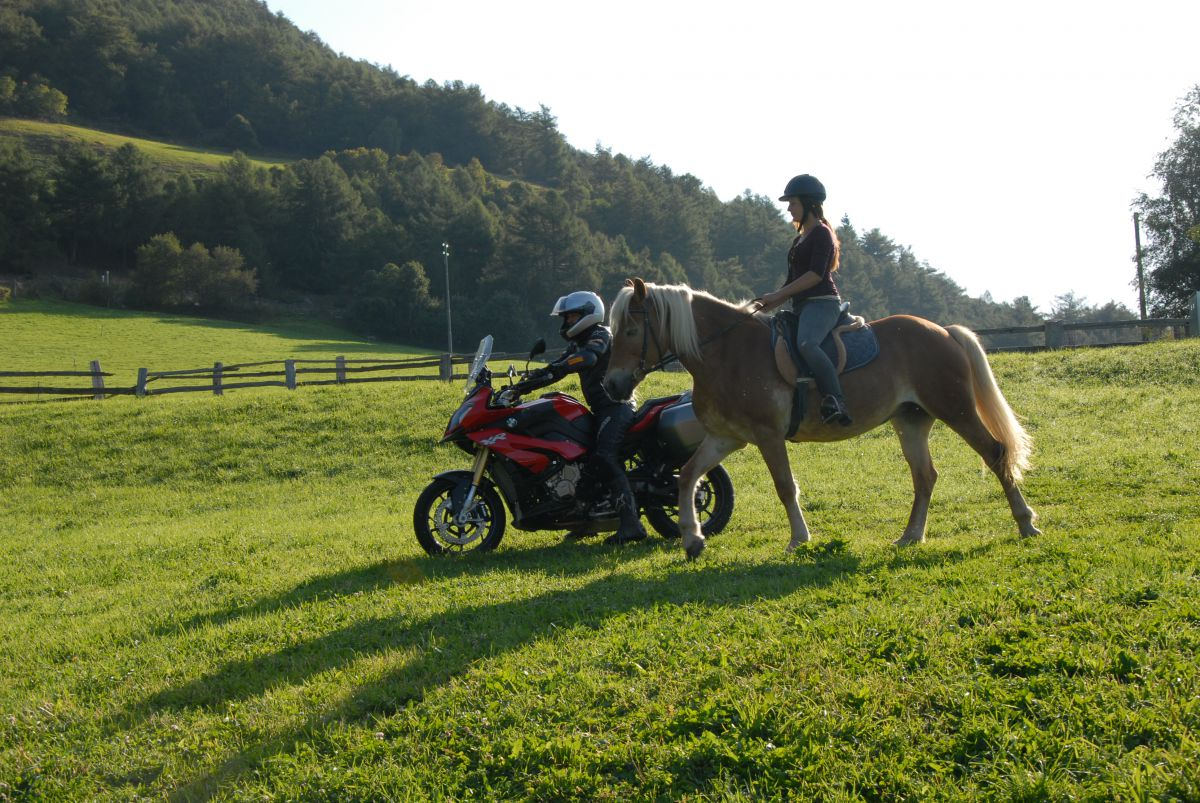 Horseback and motor riding - for her and for him!