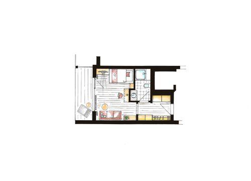 Comfort single room Säntis 6/6