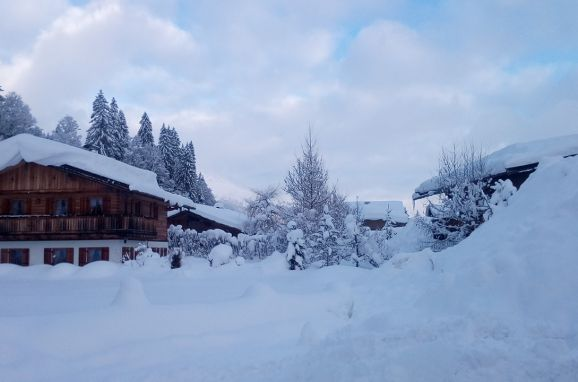 Winter, Hochlandhäusl in Kirchberg, Tirol, Tirol, Österreich