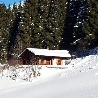 Winter, Hütta Monika in St. Gallenkirch, Vorarlberg, Vorarlberg, Österreich