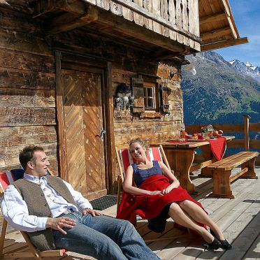 Alpine-Lodges Matthias, Terrasse1