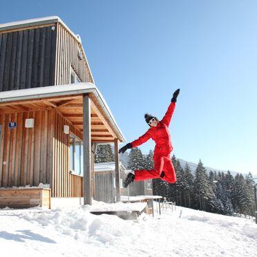 Winter, Hüttendorf Präbichl in Vordernberg, Steiermark, Steiermark, Österreich
