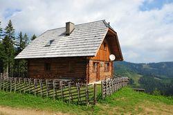 Hütten in Bad St. Leonhard im Kärntener Pitztal