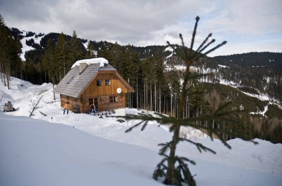 Frontansicht1, Kuhgrabenhütte in Bad St. Leonhard, Kärnten, Kärnten, Österreich