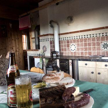 Kitchen, Zirbenwaldhütte in Mühlen, Steiermark, Styria , Austria