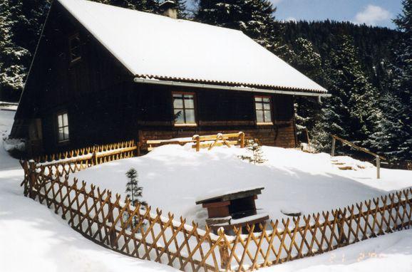Winter, Zirbenwaldhütte in Mühlen, Steiermark, Styria , Austria