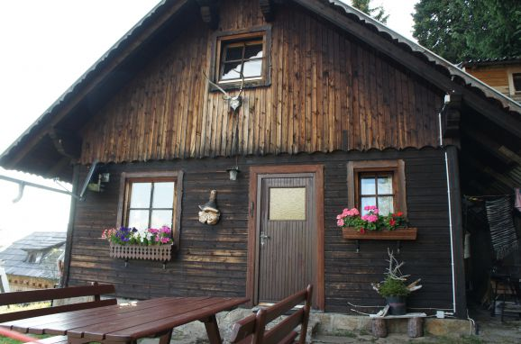 Sommer, Zirbenwaldhütte in Mühlen, Steiermark, Steiermark, Österreich