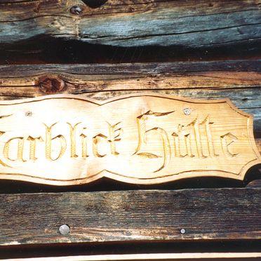 Karblickhütte, Door plate