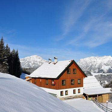 Winter, Druckfeichter Hütte in Pruggern, Steiermark, Steiermark, Österreich