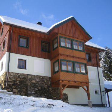 Frontansicht, Druckfeichter Hütte in Pruggern, Steiermark, Steiermark, Österreich