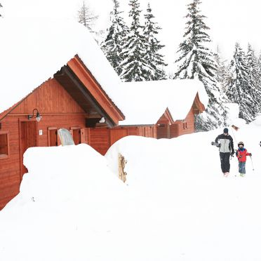 Alpine-Lodges Gertraud, Rueckansicht