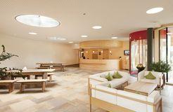 Biohotel Mattlihüs: Hoteleingang - Biohotel Mattlihüs, Oberjoch, Allgäu, Bayern, Deutschland