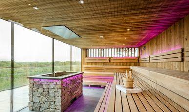 Sauna im Wellnessbereich vom Genussdorf Gmachl