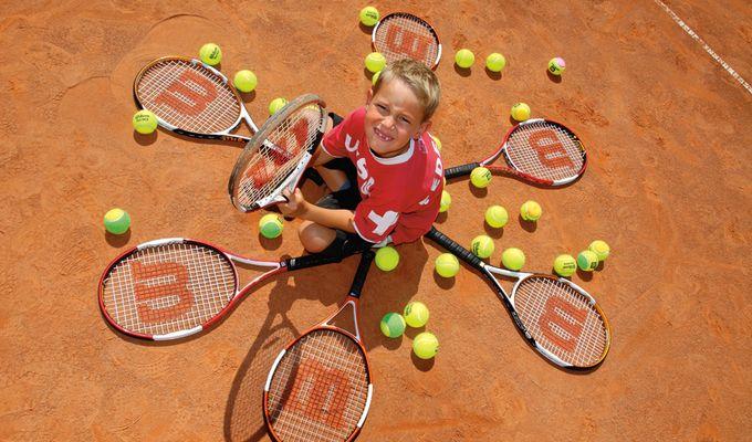 Children's tennis lessons