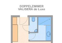 "Grundriss Doppelzimmer ""Valisera de Luxe"""