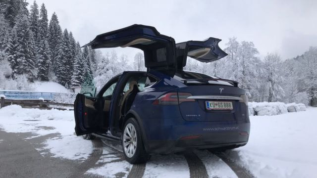 Rent a Tesla X 90D for two hours
