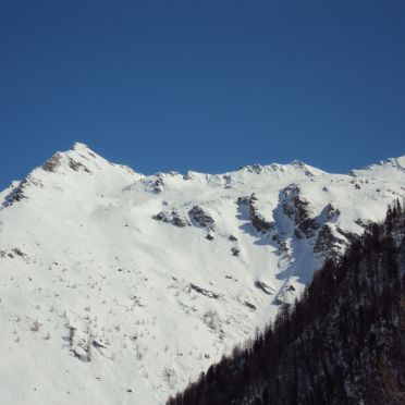 Almwiesenhütte, Winterlandschaft