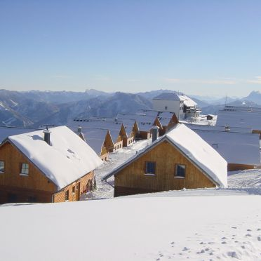 Winter, Hochsteinhütte am Feuerkogel, Ebensee, Oberösterreich, Oberösterreich, Österreich