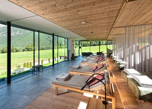 Biohotel Holzleiten: neuer Wellnessbereich mit Ruhebereich - Bio-Wellnesshotel Holzleiten , Obsteig, Tirol, Österreich