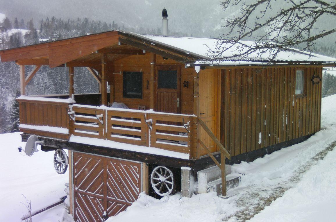 Blockhütte Mühlegg, Winter