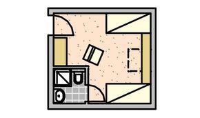 Chambre simple Saisen - Bâtiment principal