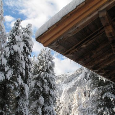 Winter, Turracher Hütte in Ebene Reichenau - Turracher Höhe, Kärnten, Carinthia , Austria