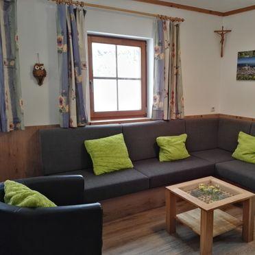 couch with TV, Schönberghütte am Feuerkogel, Ebensee, Oberösterreich, Upper Austria, Austria