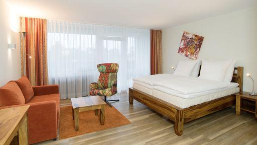 Die 380 Hotelzimmer des Familotel Sonnenhügels zählen zu den größten Hotelzimmern in Bad Kissingen.