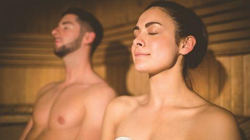Schwitzstube: Die Wärme stärkt Herz, Kreislauf und Immunsystem.