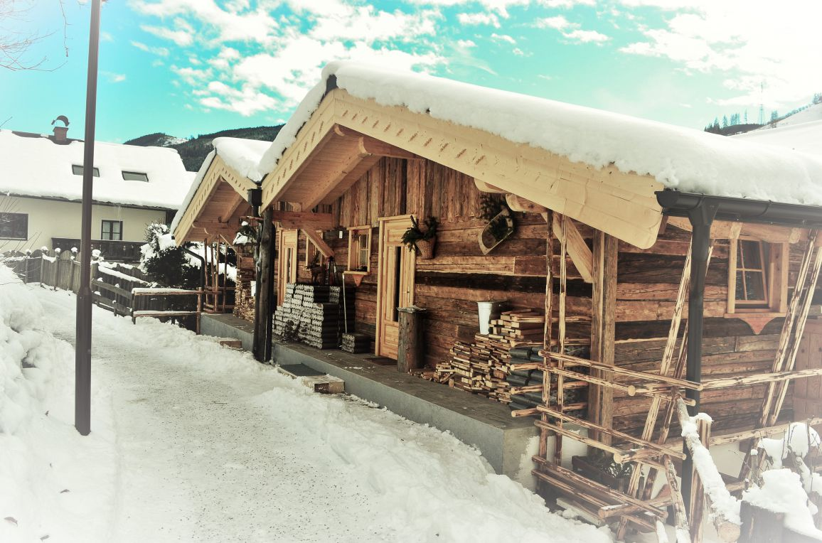 Almchalet Schneeberg, Winter