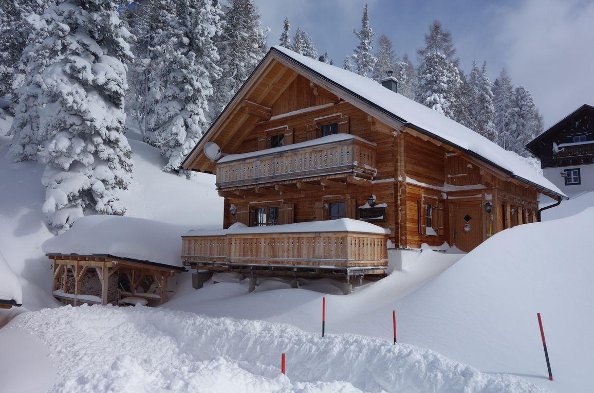Holzwurmhütte, Winter