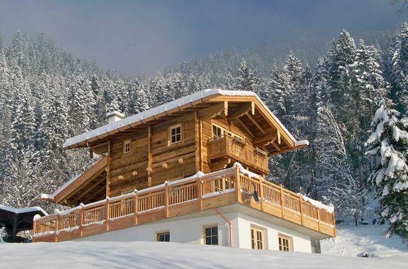 Winter, Bergchalet Klausner Die Hütte in Ramsau im Zillertal, Tirol, Tirol, Österreich