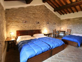 """Multi-Bed Room """"Wild Service Tree"""" - Bio-Agriturismo La Cerqua"""
